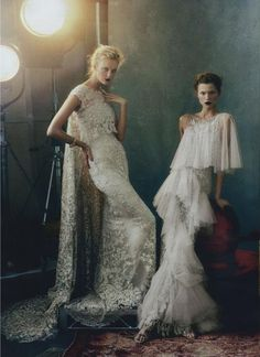 Caroline Trentini and Kasia Struss by Norman Jean Roy for Vogue, February 2013