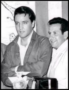 """Rare candid photo: Elvis and Joe Esposito. Joe had to be Elvis' best friend. He was always true to him unlike Sonny & Red West who wrote the book about Elvis called, """"Elvis What Happened"""". Elvis died shortly after the book came out. It was said back then that Elvis died of a broken heart. Joe stayed true to Elvis till the very end."""