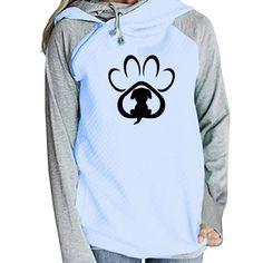Steady Autumn Winter Women Sportswear Harajuku Print Cat Paws Sweatshirt Cartoon Dog Pet Paw Printed Hoodies Kawaii Streetwear Hoodies & Sweatshirts
