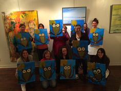 We had a great time painting our owls last night at the Art Insight Emporium!