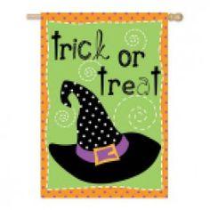 """Halloween Hijinks"" Printed Seasonal Banner - Flags A Flying"