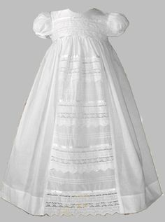 Will Beth Girls Christening Gown Cotton & Lace