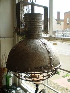 Superb London Designer Industrial Urban style Electric ceiling light,lantern - The Garden Room