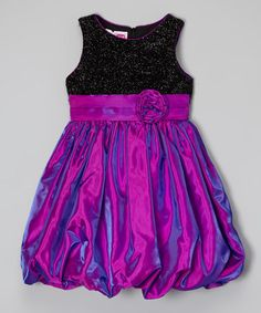 This Black & Purple Bubble Dress - Infant, Toddler & Girls by Jolene Canada is perfect! #zulilyfinds
