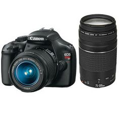 my 2nd baby...  Canon  EOS Rebel T3 Digital Camera with 18-55mm and 75-300mm Lens Kit