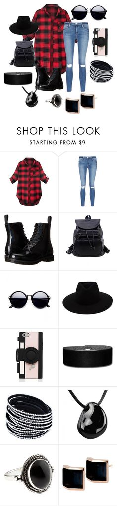 """""""Untitled #98"""" by starlord221b on Polyvore featuring Frame Denim, Dr. Martens, rag & bone, Kate Spade, Accessorize and Kattri"""