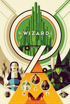 O clássico O Mágico de Oz (The Wizard of Oz) só completa três quartos de século – isto é, 75 anos – em 2014. Mesmo assim, as 350 cópias do lindíssimo pôster abaixo já foram arrematadas na web por US$ 60 (cerca de R$ 120) cada...