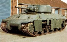 The Assault Tank T14 was a joint project between the United States and the United Kingdom. The T14 tank was supposed to be a design that was to be shared by both countries to give a heavy infantry tank for both countries. the T14 did not enter service Armor: 133 mm Main armament: 75 mm M3 Gun (50 rounds) Secondary armament: 1 .50 M2 Browning machine gun, 2 .30 Browning machine gun (bow) Speed: 28 km/h