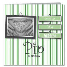 Pip, Geboortekaartje, hip, meisje, lief, groen