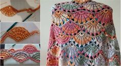 Colorful Crochet Shawl Diagrams Video