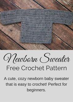 Free crochet pattern from Posh Patterns - an easy, elegant newborn sweater.
