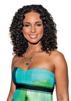 Alicia Keys' natural curls