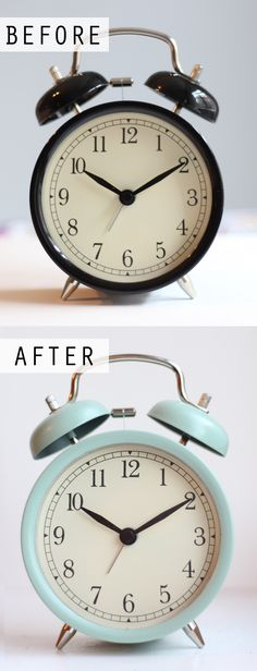 DIY Painted IKEA DEKAD Alarm Clock