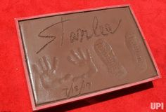 Marvel comic book writer Stan Lee hands & footprints are on display during a ceremony immortalizing him in the forecourt of TCL Chinese…