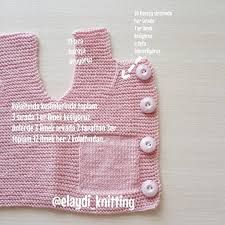 Very Easy and Very Stylish Illustrated Expression Knitted Baby Vest - Bebek Örgüleri Knitted Baby Cardigan, Baby Scarf, Crochet Cardigan Pattern, Diy Crochet, Crochet Baby, Baby Yellow, Baby Knitting Patterns, Kids And Parenting, Couture