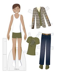 Adam vector paper doll