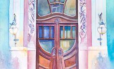 Artista viaja o mundo pintando portas em aquarela