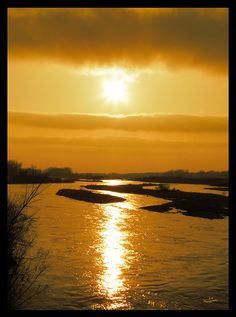 Platte River, Nebraska - Less than a half mile from my house.  In this pic it even has water in it!