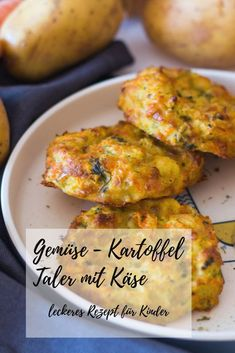 Gemüse-Kartoffel Taler mit Käse – schnell & einfach potato al horno asadas fritas recetas diet diet plan diet recipes recipes Vegetable Snacks, Lunch Recipes, Vegetable Recipes, Baby Food Recipes, Indian Food Recipes, Healthy Recipes, Indian Snacks, Kids Meals, Easy Meals