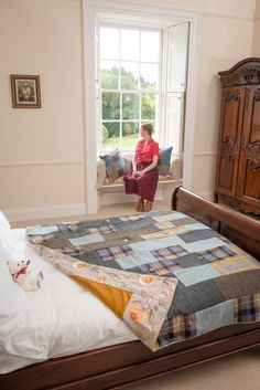 Dumcrieff House in Moffat was an idylic setting for Make The Most Of photoshoot. Harris Tweed quilt&cushion feature with Lee&Laurie vintage inspired clothese, plus Scarlet and Argent teddy bear! Lisa Watson, Large Holiday Homes, Wool Felt, Felted Wool, Patchwork Blanket, Luxury Holidays, Harris Tweed, Baby Gifts, Vintage Inspired