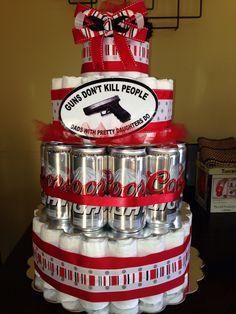Diaper party diaper cake!