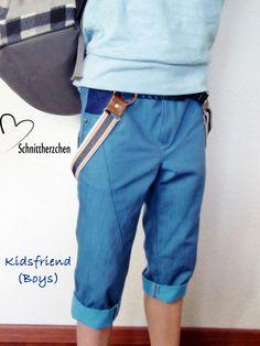 kidsfriend jeans short unisex mit Hosenträgern