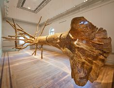 John Grade, Middle Fork, reclaimed old-growth western red cedar, 26 x 18 x 26 ft. Courtesy of John Grade. Renwick Gallery of the Smithsonian American Art Museum Photos by Ron Blunt New Era Homes, Online Gallery, Art Gallery, Seattle Art Museum, Bokashi, Home Design Magazines, Colossal Art, Wood Sculpture, Organic Sculpture