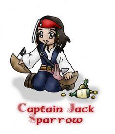 Chibi Captain Jack Sparrow by kuro-rakuen on DeviantArt