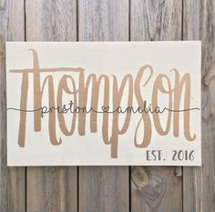 wedding gifts Wedding Wood Sign, Rustic Wedding Sign with Names and Anniversary Date, Last Name Wooden Sign, Personalized Wedding Gift, Wedding Shower Diy Wedding Gifts, Personalized Wedding Gifts, Personalized Signs, Wedding Ideas, Wedding Decorations, Wedding Shower Gifts, Wedding Quotes, Wedding Favors, Wedding Inspiration