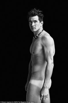 Swim fan: Olympic swimmer Nathan Adrian shows off his ripped physique in ESPN The Magazine.those are some tan lines..