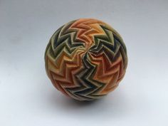 """Zig Zag Rainbow"" Sphere (from Olander Earthworks)"