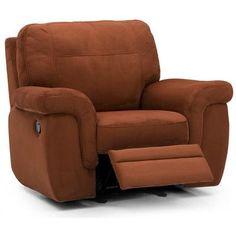 Palliser Furniture Brunswick Wall Hugger Recliner Upholstery: Leather/PVC Match - Tulsa II Sand, Leather Type: All Leather Protected, Type: Power