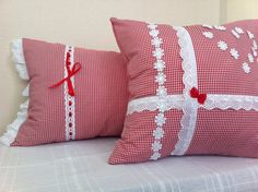 Rustic Pillow Covers Decorative Gingham Pillow by LabArtDesign