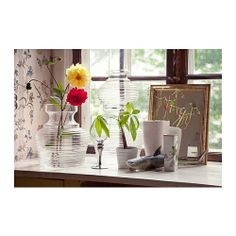IKEA PS 2012 Vase, set of 2 IKEA You can use the two vases separately or put them on top of one another to make one tall vase.