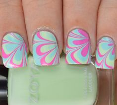 Dry watermarble using the cremes from zoya Delight collection