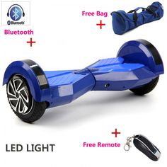 8 inch Bluetooth Hoverboard Self Balance electric Scooters unicycle skateboard skywalker balance Wheel LED light hover board ** This is an AliExpress affiliate pin. Click the VISIT button for detailed description on AliExpress website Electric Skateboard, Electric Scooter, Hoverboard Skate, Unicycle, Bluetooth Remote, Cool Things To Buy, Stuff To Buy, Led, Bags