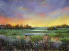 paintings of marshes | into the twilight 18 x24 pastel with oil underpainting i love the ...