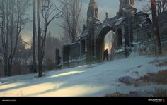 ArtStation - Uncharted 4 - Scotland Gate, Nick Gindraux