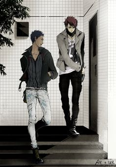 Aomine & Kagami being bad mans  | Kuroko no Basket
