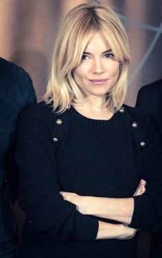 Sienna Miller curtain bangs