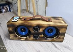 Bluetooth Speaker Box, Bluetooth Gadgets, Diy Speakers, Subwoofer Box Design, Speaker Box Design, Radios, Diy Boombox, Diy Amplifier, Jl Audio
