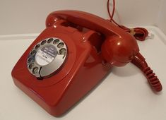 Original Vintage Retro 1960's GPO 706 Rotary Dial Red Telephone *Restored*
