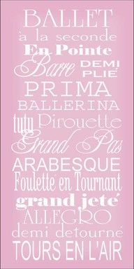cute for a wall decoration! I love how I can pronounce all of these...
