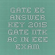 GATE EE answer key 2015 gate.iitk.ac.in EEE exam