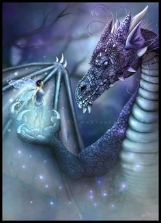 Dragon and a fairy. So beautiful
