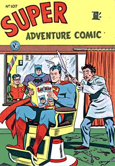 Cover for Super Adventure Comic series) [Different price] Barber Poster, Barber Logo, Superman Characters, Superman Comic, Barber Haircuts, Haircuts For Men, Barber Pictures, Vintage Disney Posters, Dc Comics Collection
