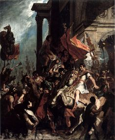 Delacroix - The Justice of Trajan, oil on canvas, 1858 - Eugène Delacroix - Wikipedia, la enciclopedia libre
