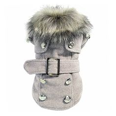 Pet Clothing  SODIALR Dog Winter Warm Coat Luxury Jacket Puppy Clothes Pet Clothing Cat Apparel Gray S -- Click image for more details.-It is an affiliate link to Amazon.