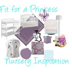 """""""Nursery Inspiration Board"""" minus the lovely lamps, that I am sure would be super easy to find here!"""