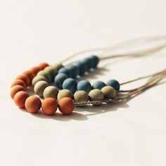 Naturally Dyed Wooden Beaded Necklace  Choice of by RebeccaDesnos, £6.50